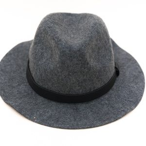 0514623f8 H&M Felted Wool Hat With Faux Leather Band